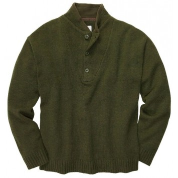 Shawl Sweater- Live Oak Green